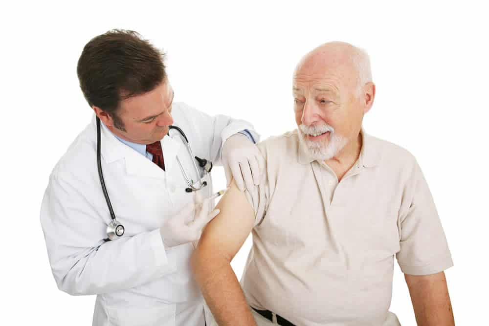 The flu shot is approved for people with liver disease.