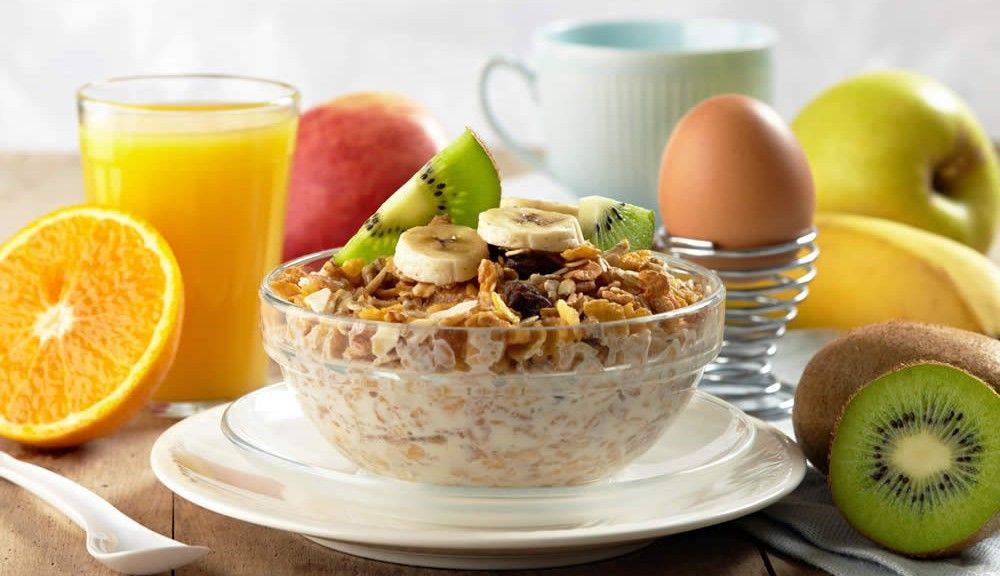 Breakfast for cancer patient