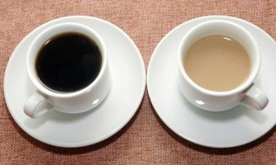 black coffee or coffee with creamer