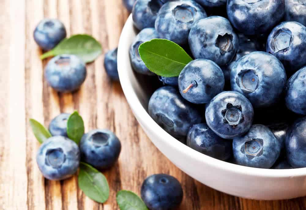 Blueberries are great for liver health.
