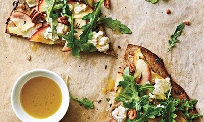 Apple Goat Cheese Pecan Pizza