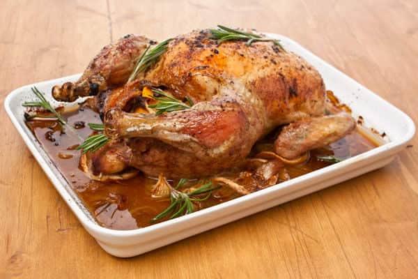 Herb-rubbed turkey au jus