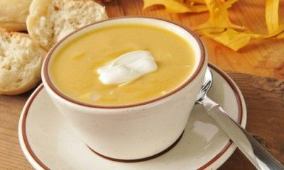 Butternut squash granny apple soup
