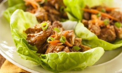 Healthy Chicken Lettuce Wrap