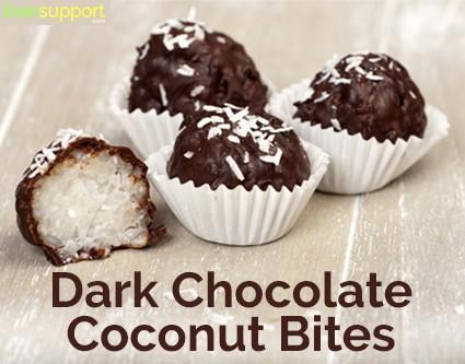 Homemade Dark Chocolate Coconut Bites