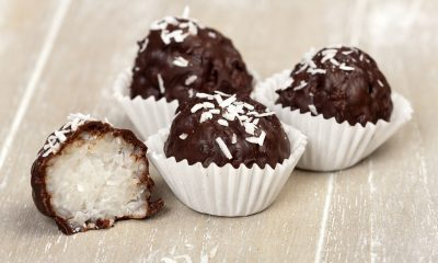 Homemade Dark Chocolate Coconut Bites