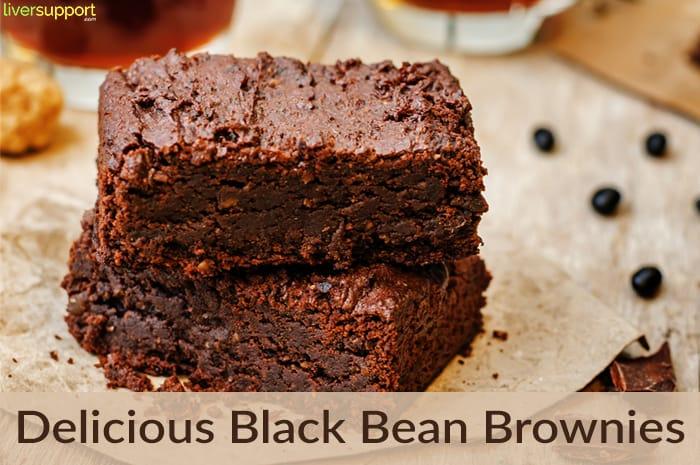 Liver Friendly Healthy Black Bean Brownies