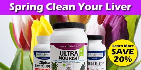Spring clean your liver with UltraThistle, UltraNourish and Clinical LiverSupport.