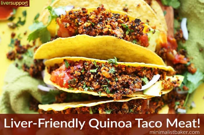 Liver Friendly Tacos - Quinoa Taco Meat