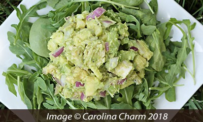 Carolina Charm - Easy and Healthy Avocado Chicken Salad