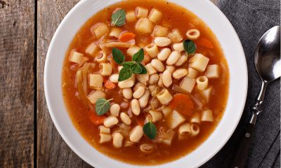 Liver-friendly vegetarian minestrone soup