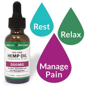 THC-FREE Hemp Oil Peppermint Drops