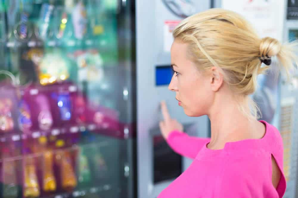 Foods in vending machines are not good for your liver.