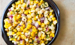 Bowl of Chipotle Copycat Corn Salsa