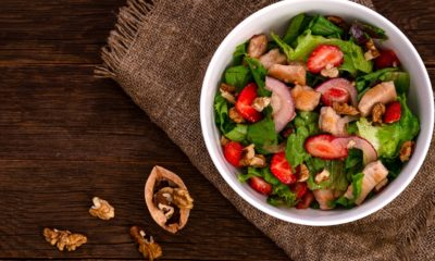 Savory Strawberry Salad with Homemade Balsamic Dressing
