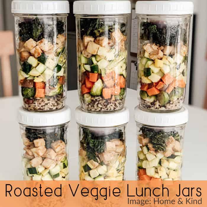 Roasted Veggie Lunch Jars - Home & Kind