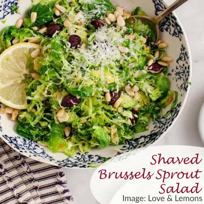 Shaved Brussels Sprout Salad Love & Lemon Recipe
